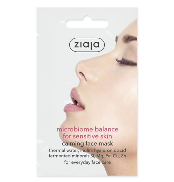 ZIAJA Mikrobiom nyugtató arcmaszk érzékeny bőrre