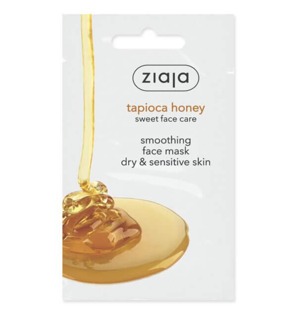 ZIAJA Tápióka mézes simító arcmaszk száraz és érzékeny bőrre