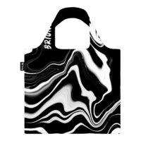Briony újrahasznosított Bevásárló Táska - Black Marble